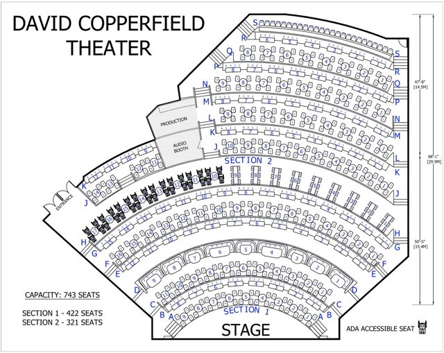 David Copperfield Seating Chart